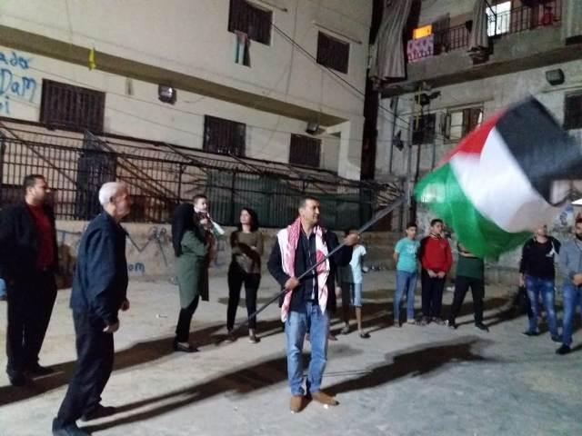 وقفة تضامنية في مخيم شاتيلا انتصارًا لغزة