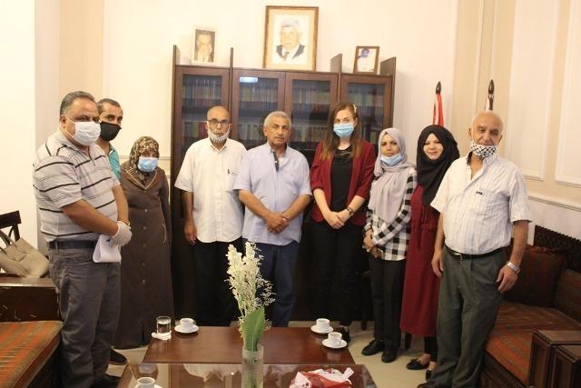 وفد من الائتلاف الفلسطيني اللبناني يزور النائب الدكتور أسامة سعد