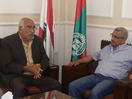 الجبهة الشعبية لتحرير فلسطين تزور أمين عام التنظيم الشعبي الناصري