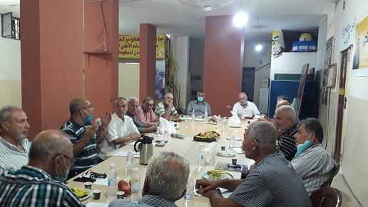 الأحزاب، والقوى الوطنية والإسلامية، والفصائل الفلسطينية تعقد اجتماعها الدوري في إقليم الخروب