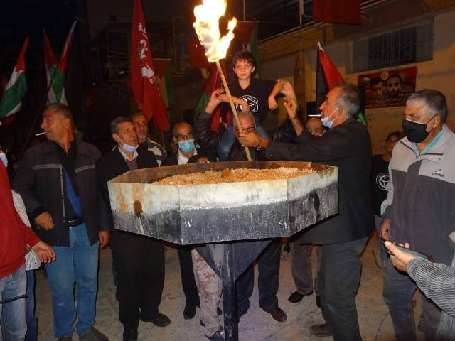 الشعبية في منطقة صيدا أحيت الذكرى الـ53 لانطلاقتها المجيدة بإيقاد شعلتها