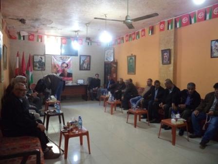 الشعبية في صيدا تتقبل التبريكات باستشهاد الشهيد باسل الأعرج