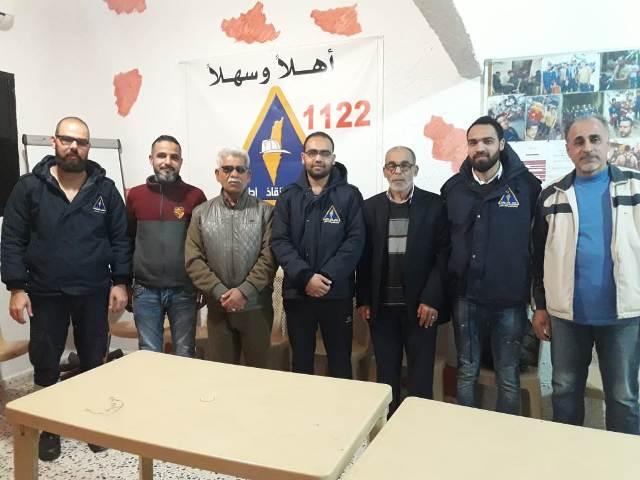 اللجان العمالية الشعبية الفلسطينية زارت مركز الدفاع المدني الفلسطيني