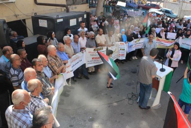 اللجان الشعبية لمنظمة التحرير تقيم اعتصامًا أمام مكتب الأونروا في صيدا