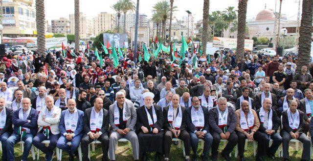 الآلاف يشاركون حماس مهرجان القدس عاصمة فلسطين