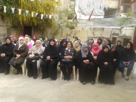 لجان المرأة الشعبية الفلسطينية في صيدا تكرّم المرأة في يومها