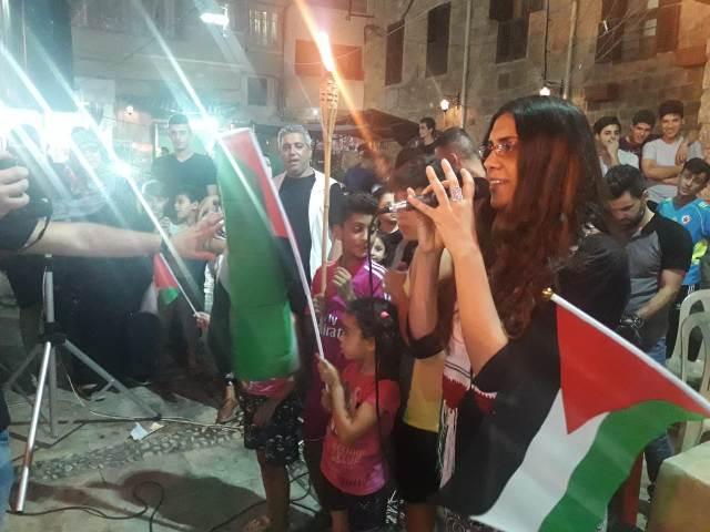 مسيرة داعمة للانتفاضة الفلسطينية في صيدا القديمة