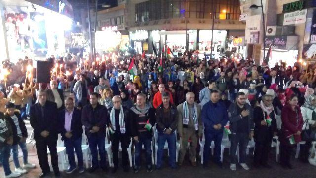 مسيرة ومهرجان فني في مدينة صيدا دعما لانتفاضة الشعب الفلسطيني