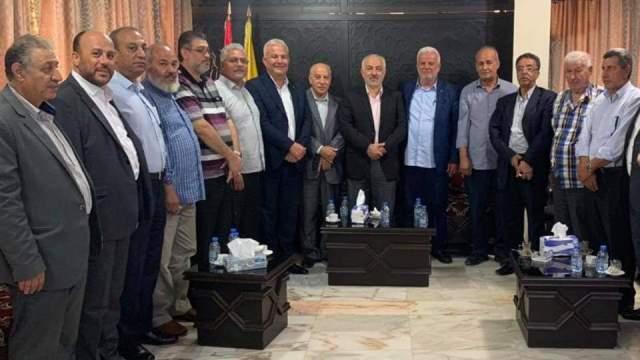 مسؤول العلاقات الفلسطينية حسن حب الله يلتقي وفدًا مشتركًا من القيادة الفلسطينية الموحدة