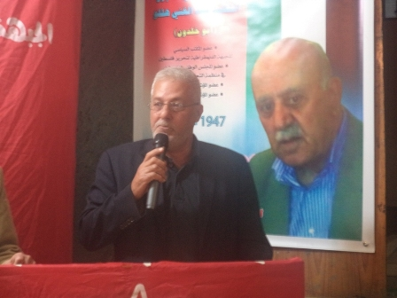 الشعبية في صيدا تقدم التعازي للجبهة الديمقراطية بالقائد عبد الغني هللو( أبو خلدون)