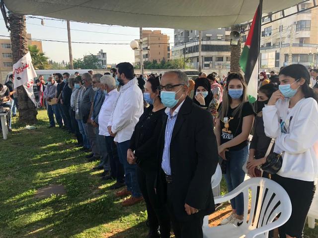 وقفة تضامنية للمنظمات الشبابية اللبنانية والفلسطينية في صيدا دعماً لهبة القدس البطولية