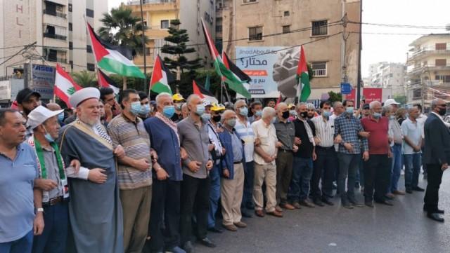 مسيرة حاشدة في مدينة صيدا دعمًا لانتفاضة القدس