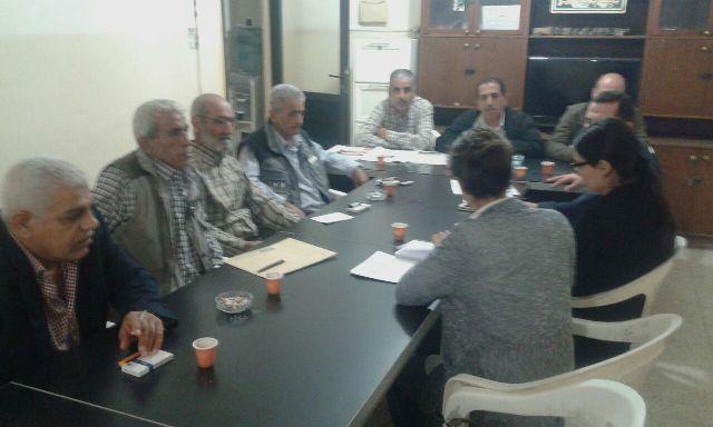 الفصائل واللجان الشعبية تلتقي الصليب الأحمر الدولي في الشمال