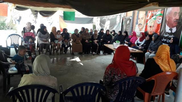 فاعليات خيمة التضامن مع الأسرى في مخيم عين الحلوة