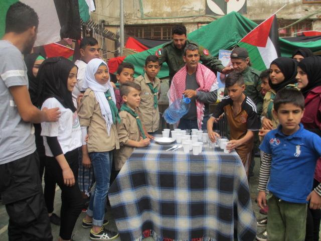 نشاطات اليوم الخامس في خيمة الاعتصام بمخيم شاتيلا