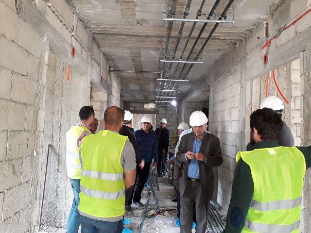 رئيس جمعية الهلال الأحمر الفلسطيني يزور المبنى الجديد لمستشفى صفد بالبداوي