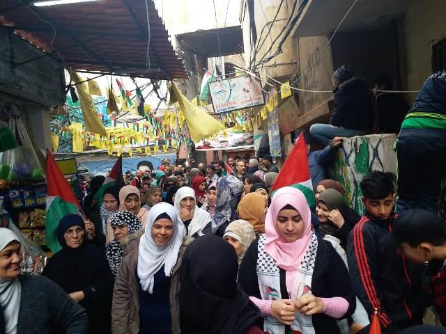 مسيرات غضب تعم المخيمات الفلسطينية