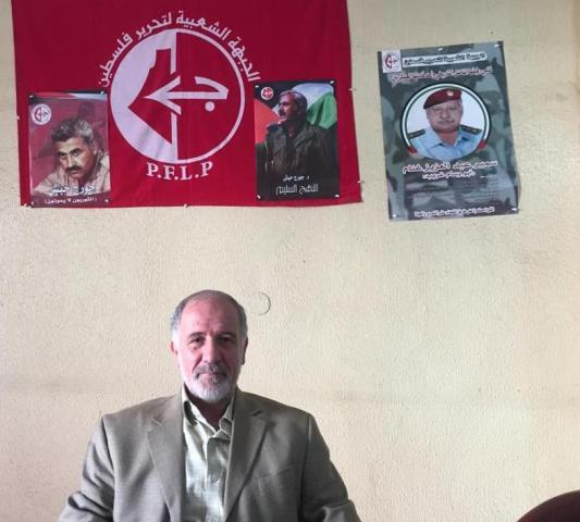 المناضل السيد أبو رائد ذبيان يزور الشعبية في مخيم البص