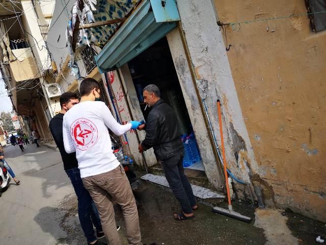 فريق الشهيد وديع حداد يواصل حملاته الخدماتية في مخيم الرشيدية