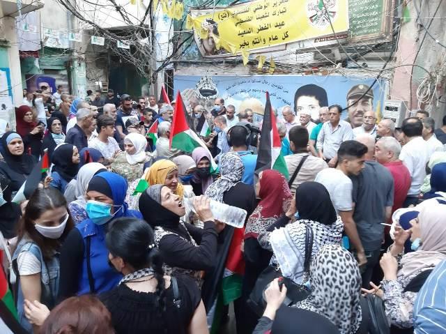 اعتصام جماهيري حاشد في مخيم شاتيلا رفضًا لاتفاقيات التطبيع والعار