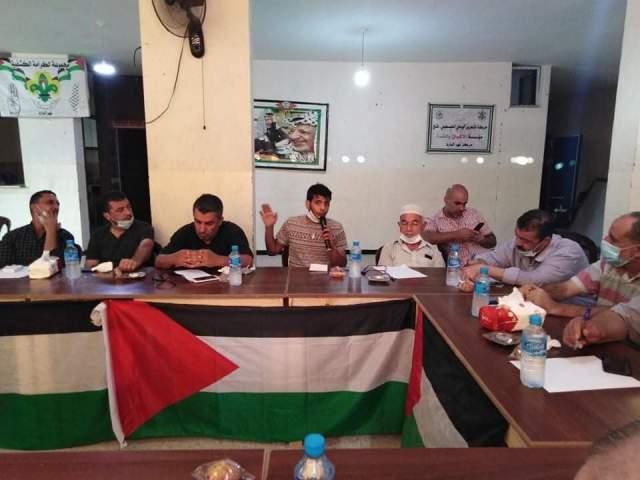 المكتب الطلابي لمنظمة الشبيبة الفلسطينية يشارك في اللقاء الطلابي في مخيم نهرالبارد
