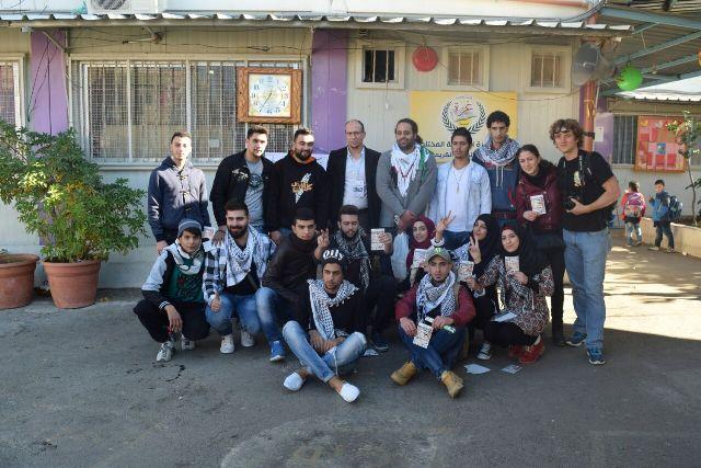 منظمة الشبيبة الفلسطينية في مخيم نهر البارد تجول على المدارس