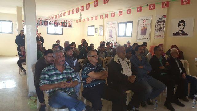 منظمة الشبيبة الفلسطينية في الشمال تستضيف وفدًا من الفريق الإعلامي الصحراوي ومؤسسة رو-فيلم السويدية .