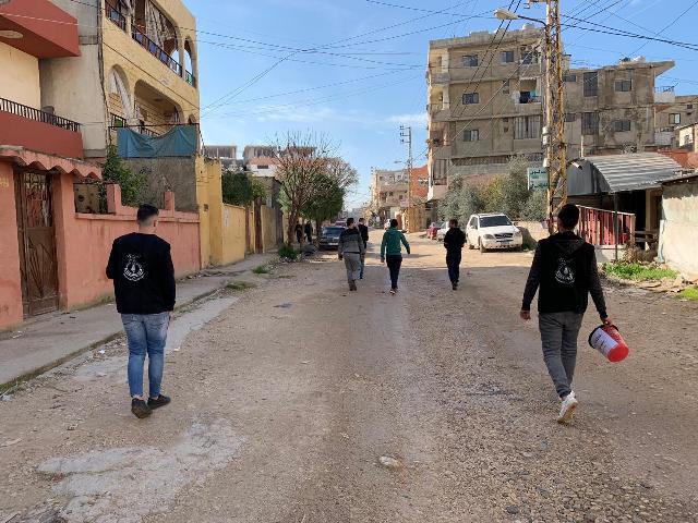 منظمة الشبيبة الفلسطينية في مخيم نهر البارد تخدم البيئة