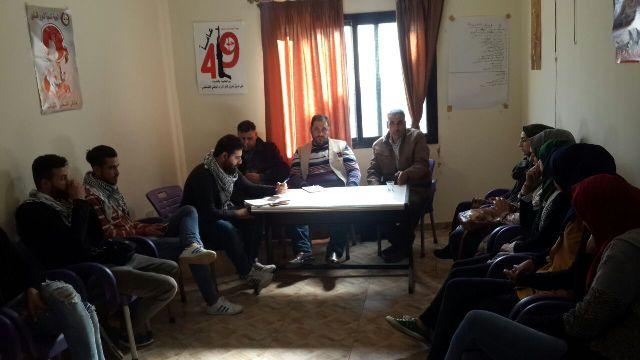 وفد مركزي من منظمة الشبيبة الفلسطينية يزور مخيمات الشمال