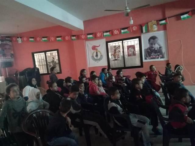 منظمة الشبيبة الفلسطينية في البرج الشمالي تعرض فيلمًا وثائقيًّا بمناسبة يوم الأرض