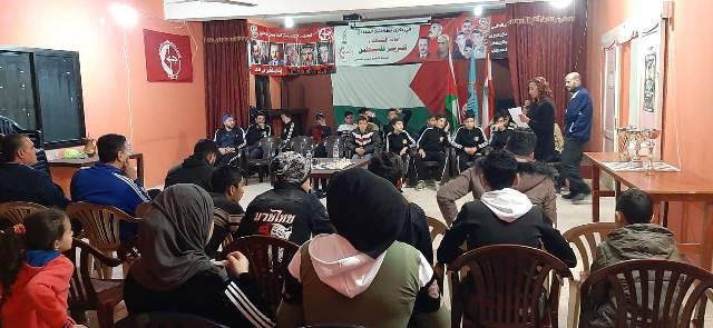 منظمة الشبيبة الفلسطينية، مفوضية صور تقيم حفل توزيع جوائز دورة الشطرنج الأخوية