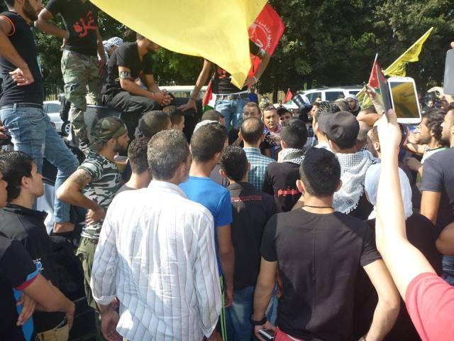 مسيرة حاشدة في مخيم شاتيلا تضامناً مع غزّة