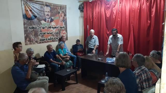 وفد سويدي يزور الشعبية في بيروت