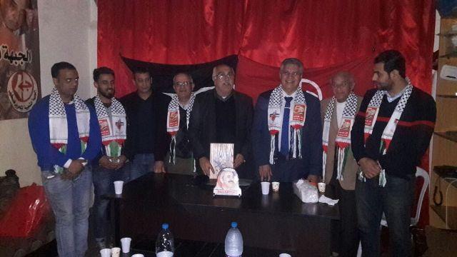 أعضاء المؤتمر الناصري والشباب الديمقراطي زاروا مكتب الشعبية في مخيم شاتيلا