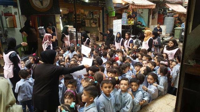 رسالة شكر من أطفال مخيم شاتيلا