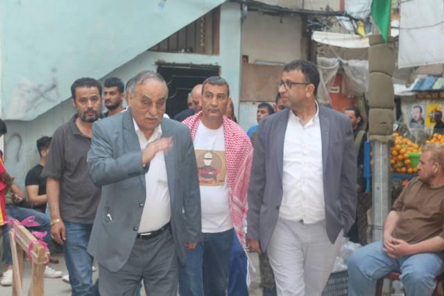 وفد قيادي من  الشعبية  يزور خيم التضامن مع الأسرى في مخيمي شاتيلا وبرج البراجنة