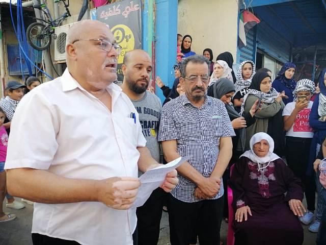 اعتصام في مخيم مار الياس ضد قرارات وزير العمل اللبناني