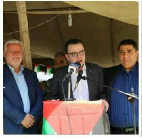وزير الثقافة في دولة فلسطين إيهاب بسيسو زار خيمة التضامن مع الأسرى في مخيم شاتيلا