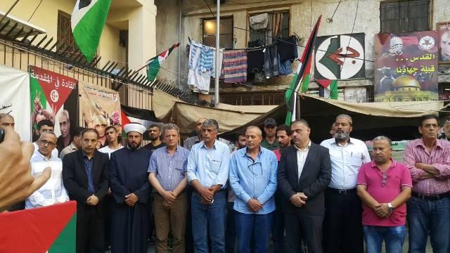 الشعبية في شاتيلا أقامت وقفة تضامنيةمع الأسرى في السجون الصهيونية