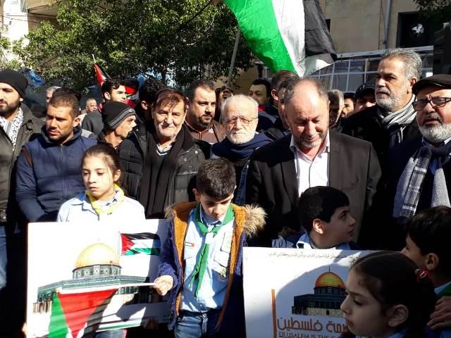 الشعب الفلسطيني في لبنان يرفص  صفقة القرن وكل ما يصدر عنها: القدس عاصمة فلسطين الأبدية\ تسقط صفقة العار
