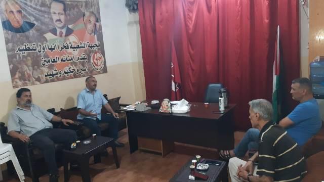 الجبهة الشعبية لتحرير فلسطين تلتقي قائد الأمن الوطني الفلسطيني في شاتيلا