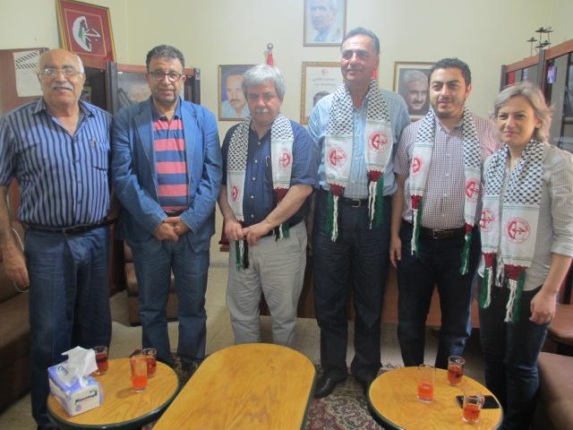 الحزب الشيوعي اللبناني يلتقي مروان عبد العال ووفدًا من قيادة الجبهة الشعبية في لبنان