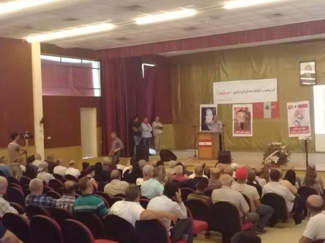 الحزب الشيوعي اللبناني يحيي الذكرى السنوية الثالثة لرحيل المناضل صائب الحجار