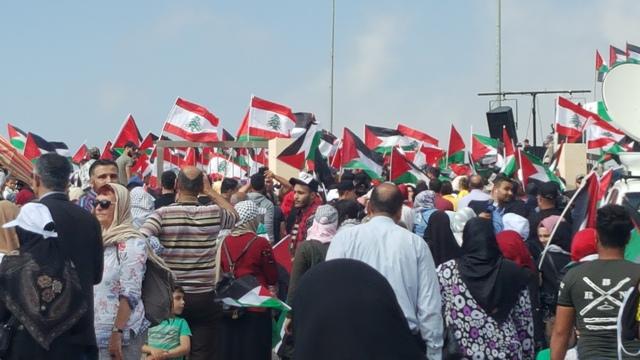 مسيرة العودة من المخيمات الفلسطينية إلى قلعة الشقيف
