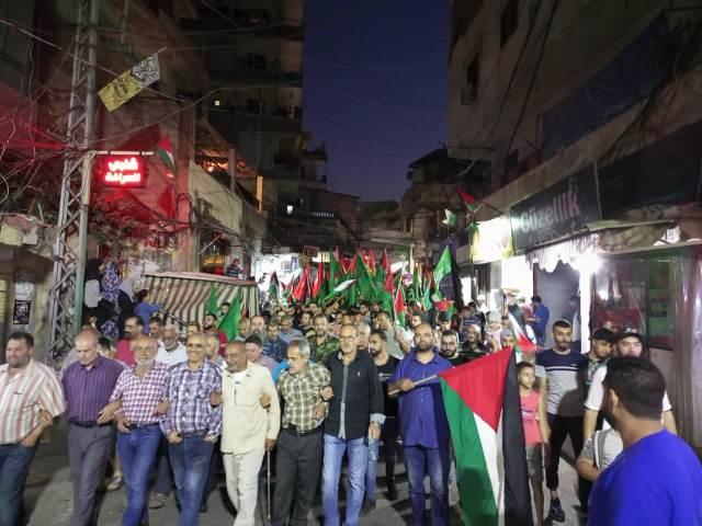 الجبهة الشعبية لتحرير فلسطين في الشمال تشارك بمسيرة الدعم والتأييد للصامدين في القدس وغزة