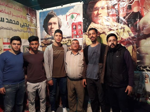 منظمة الشبيبة الفلسطينية تكرم سكاف