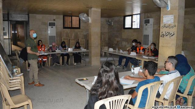 تدريب مساعدين صحيين في مخيم عين الحلوة