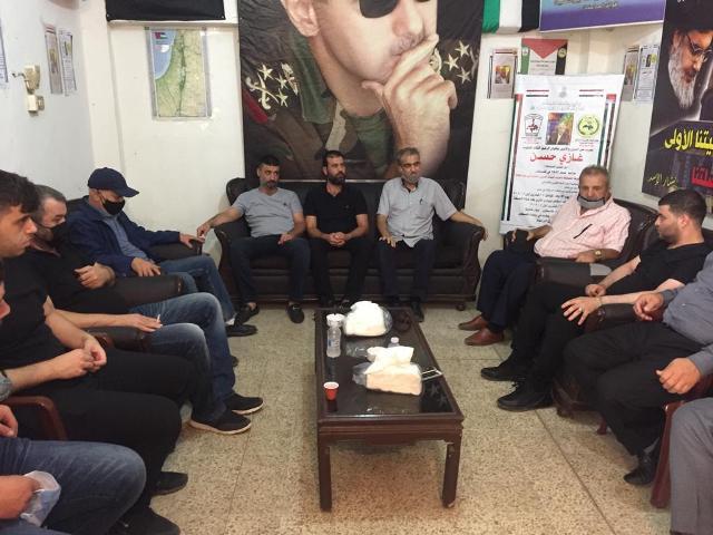 الشعبية في صور تقدم واجب العزاء بالراحل ابو حسن الصاعقة
