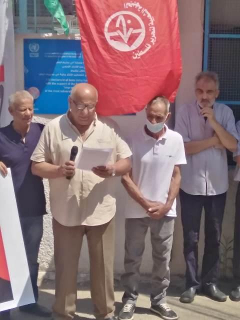 وقفة تضامنية في مخيم البص مع المناضلة خالدة جرَّار والأسرى في سجون الاحتلال كافة