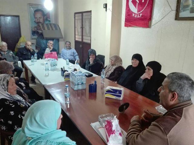 لقاء رفاقي لمناسبة الذكرى ال50 لانطلاقة الشعبية في مخيم البص